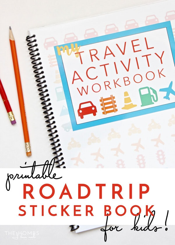 printable road trip activity and sticker book - Kids Activity Book Printable