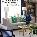 Preppy Living Room Reveal