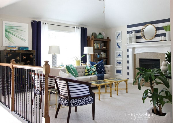 Neutral Furniture And Colorful Accessories Transform This Boring Rental  Living Room Into A Preppy And Playful