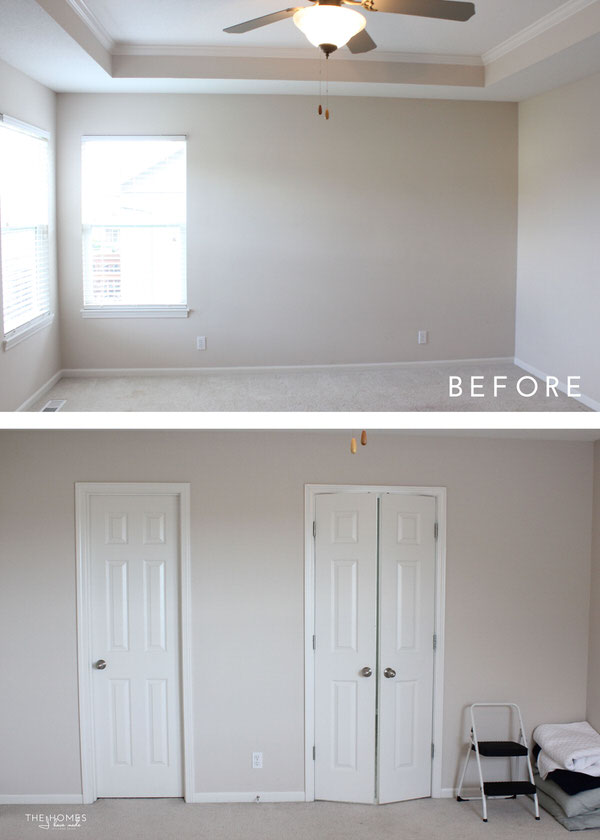Simple and sweet DIY details transform this master bedroom into a serene and peaceful retreat!
