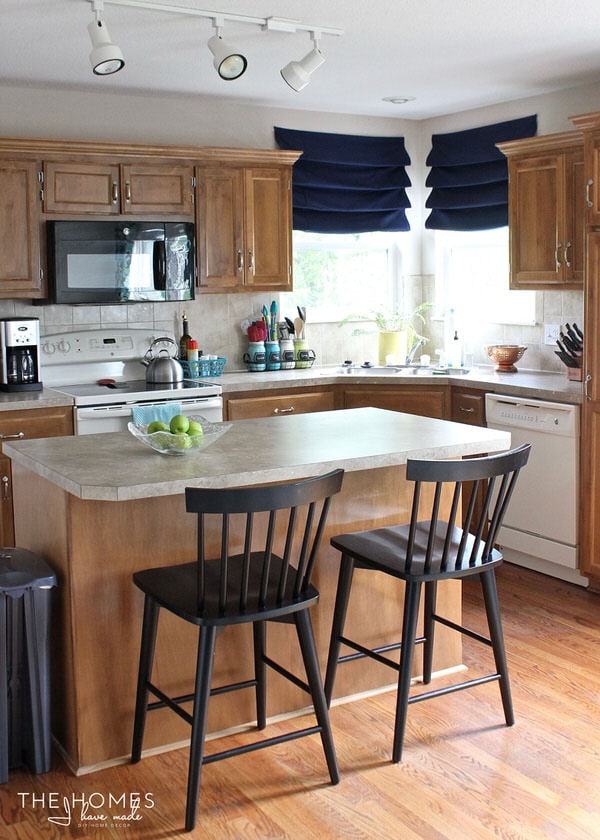 Simple Updates And Affordable Accessories Transform This Bland Boring Rental Kitchen Into A Fun