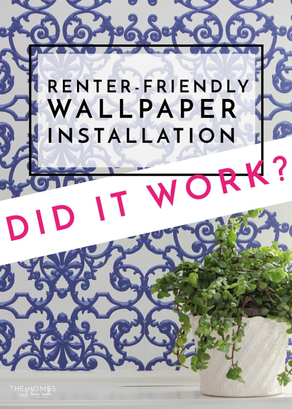 I applied wallpaper to our rental...now you get to see how easily it came down! Follow the link to see the wallpaper removal in action!