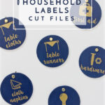 FREE Household Label Cut Files!
