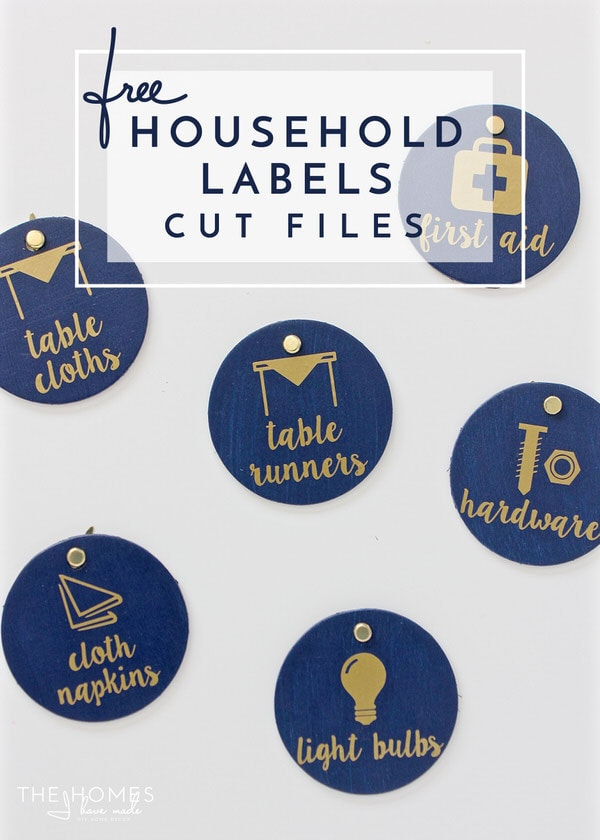 Make your own unique labels for everything In your home with these 36 FREE cut files for e-cutter machines!