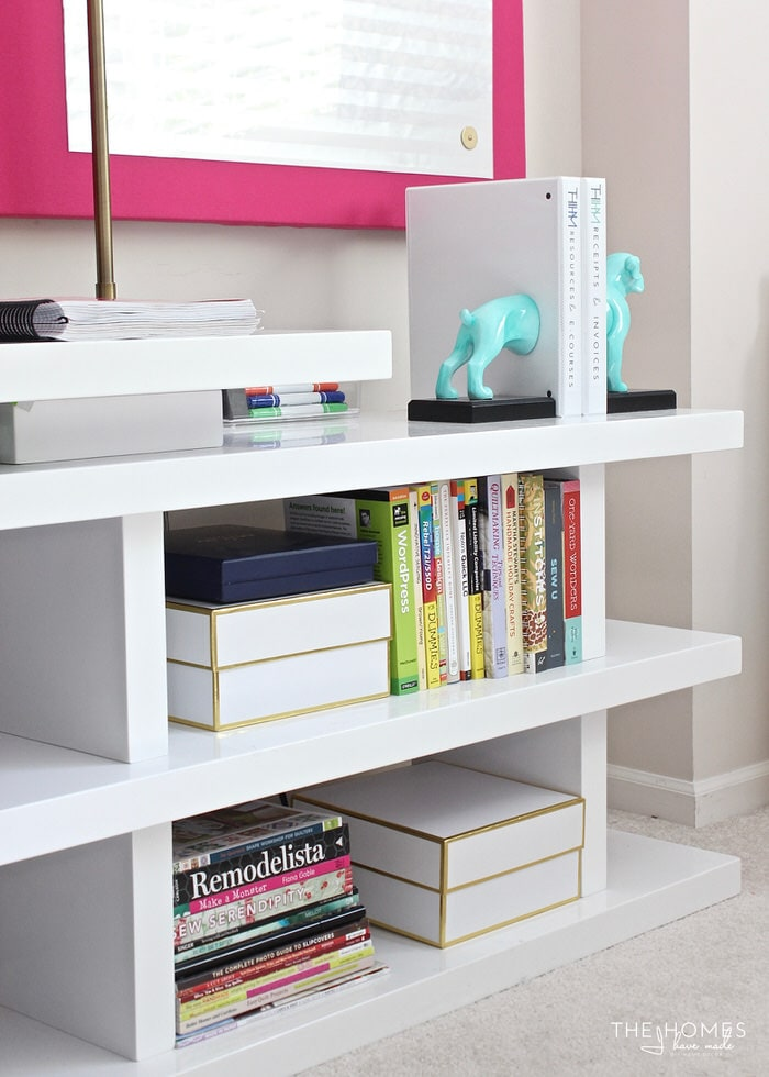 A Creative and Organized Home Office + Craft Room - Just a Girl and ...