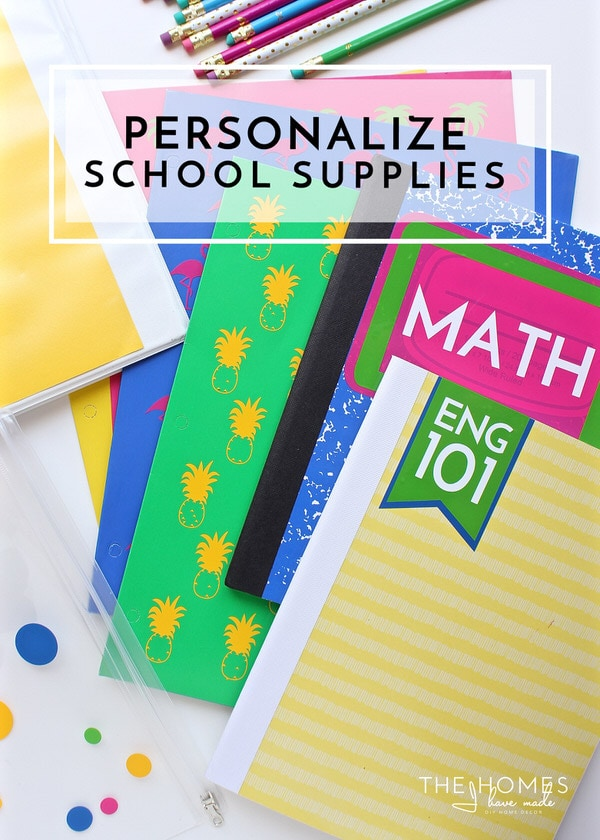Don't spend money on expensive school supplies! Buy the inexpensive versions and give them your own flair with DIY vinyl labels and decals!