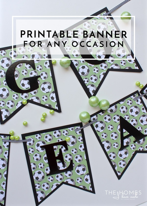 Need to make a banner for a special occasion but don't have any fancy supplies? Use this FREE printable template to make a banner for any occasion!