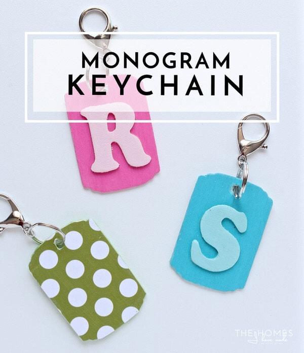 DIY Monogram Key Chains