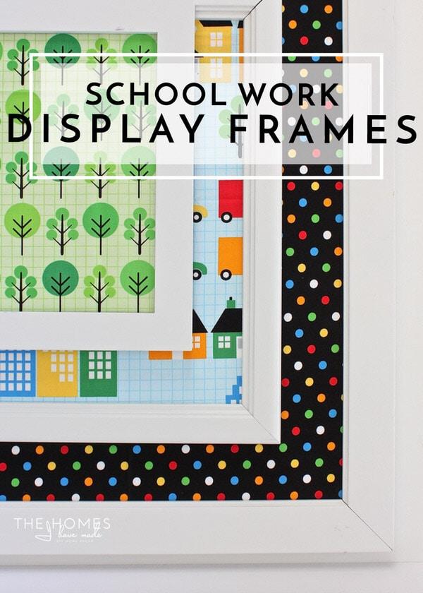 School Work Display Frames