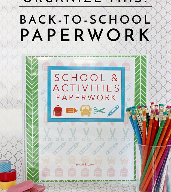 Are you already drowning in all the papers and forms that come home at the start of a new school year? Use this easy method to get them all in order!
