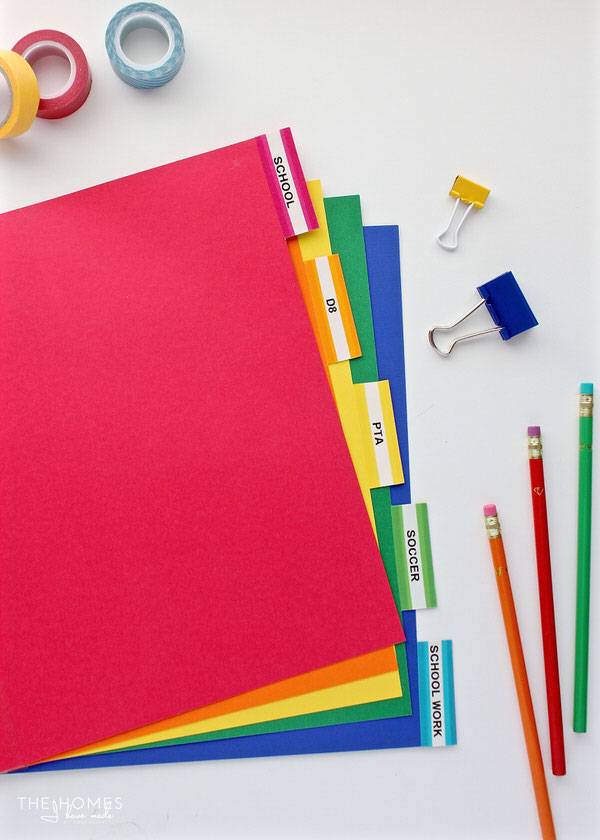 making your own tabbed binder dividers is quick and easy this tutorial shows you how