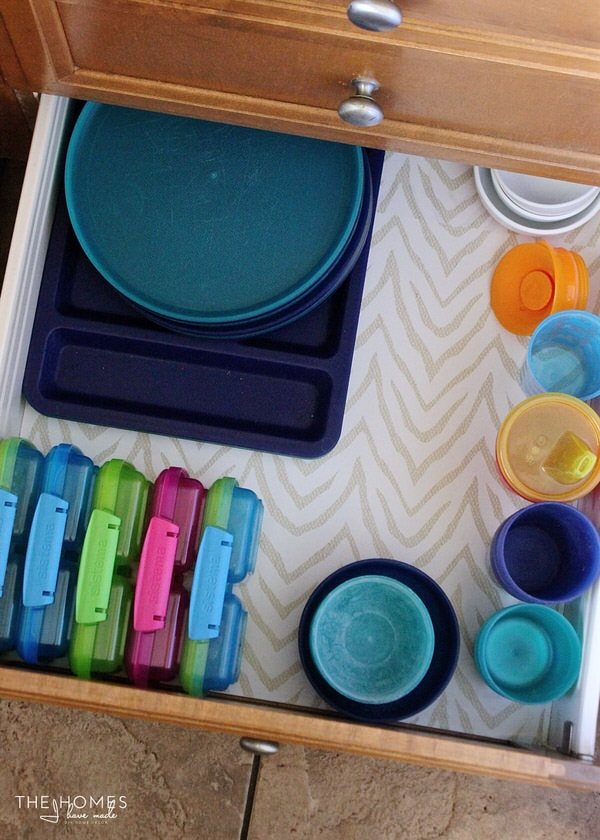 Corral kid dishes and cups together