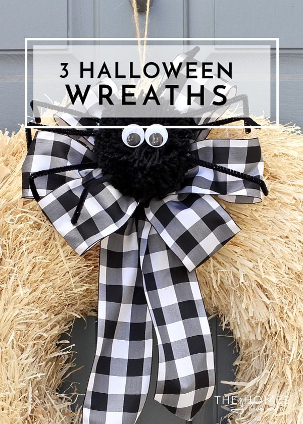 3 Super Simple Halloween Wreaths
