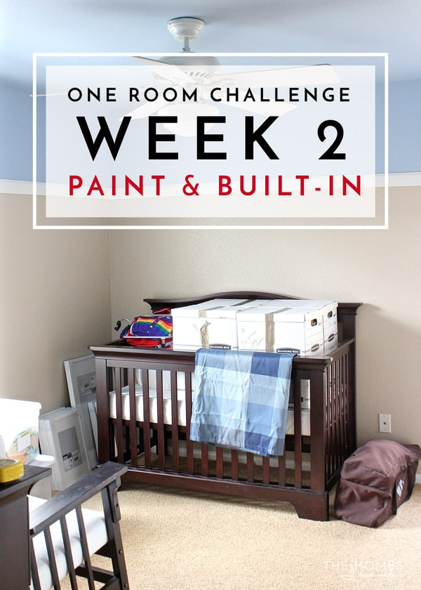 One Room Challenge | Week 2: Paint And Closet Built In