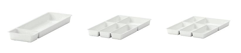 IKEA plastic drawer dividers