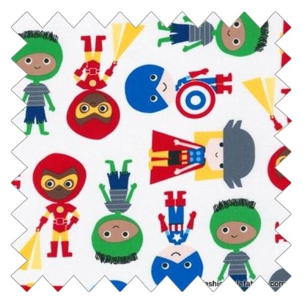 Super Hero Kids Fabric Swatch