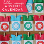 DIY Hidden Holiday Message Advent Calendar