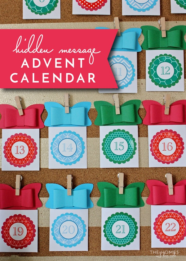 Diy Childrens Advent Calendar : Diy hidden holiday message advent calendar the homes i