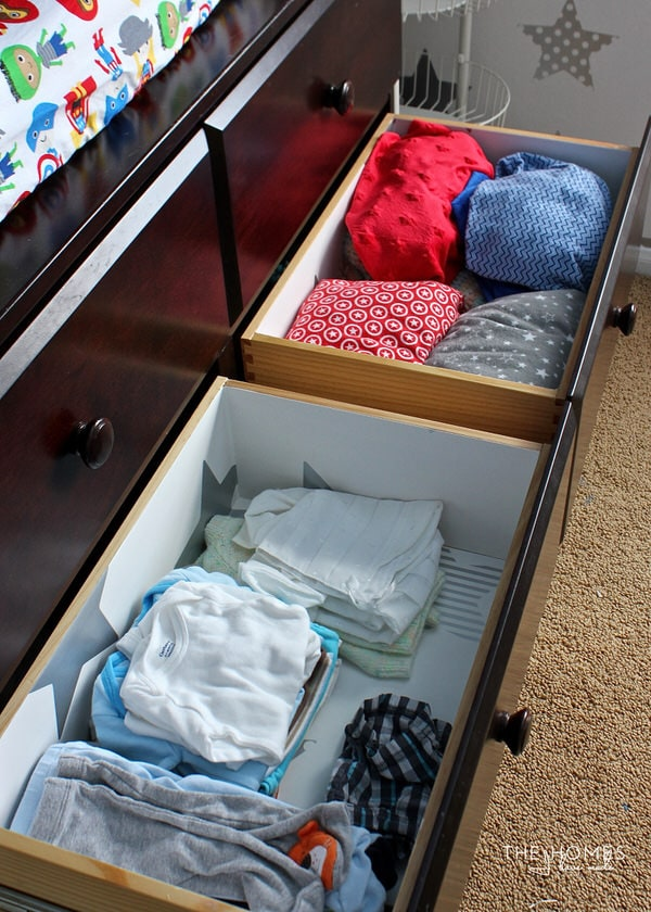 Week 5 of this One Room Challenge is all about organization! Come see how I outfitted the nursery closet and drawers to hold everything baby needs!