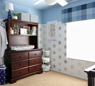 We transformed this boring bedroom into a super hero nursery for our