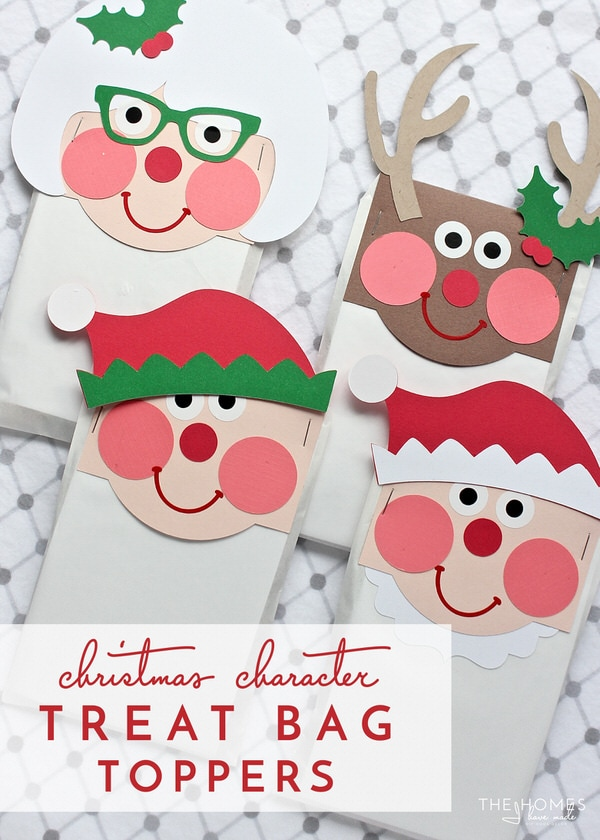 Christmas Character Treat Bag Toppers