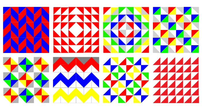 Half-Square Triangle Quilt Ideas