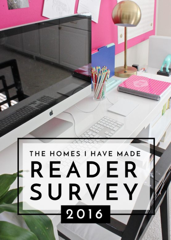 Your feedback is invaluable to me! I appreciate you taking a few minutes to provide your thoughts on the projects, posts and initiatives on The Homes I Have Made!