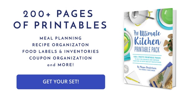 Ready to organize your kitchen? These 200+ printable pages can help!