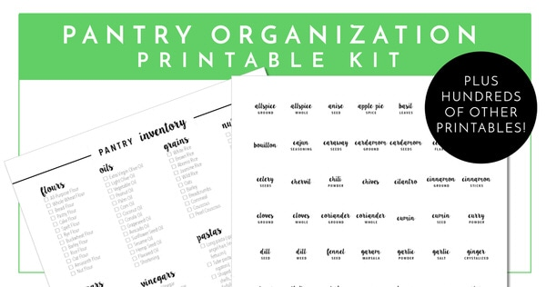 Get your Pantry sorted and organized with the worksheets in The Ultimate Kitchen Printable Pack - 200+ printable pages to organize and improve function in every area of your kitchen!