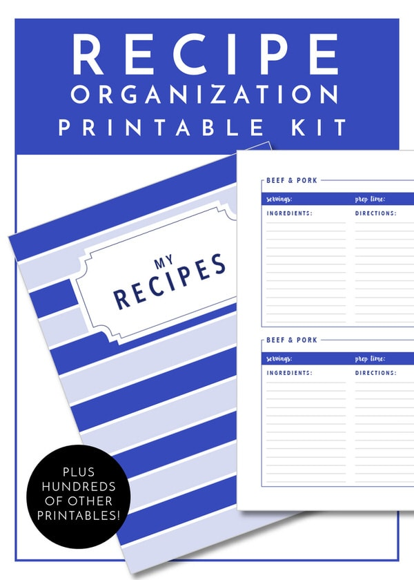 Get your Recipes sorted and organized with the worksheets in The Ultimate Kitchen Printable Pack - 200+ printable pages to organize and improve function in every area of your kitchen!