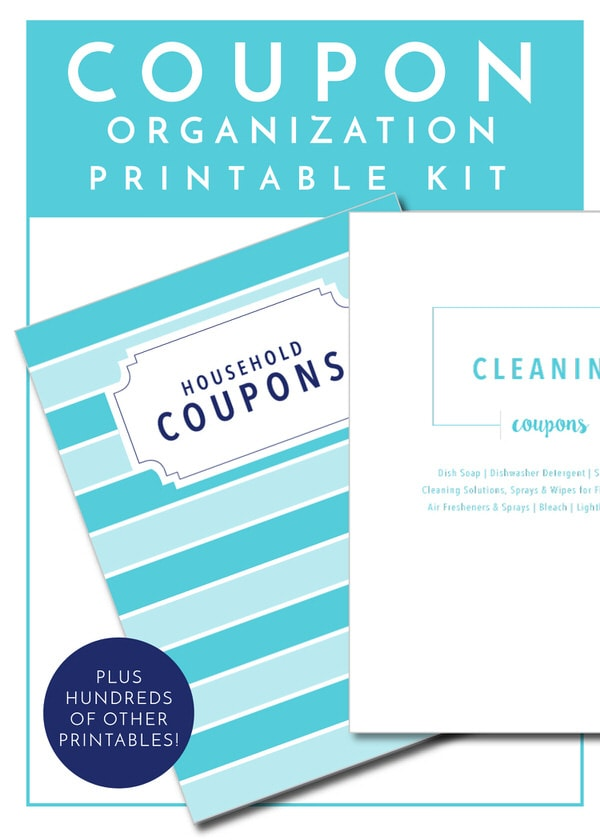 Get your Coupons sorted and organized with the worksheets in The Ultimate Kitchen Printable Pack - 200+ printable pages to organize and improve function in every area of your kitchen!