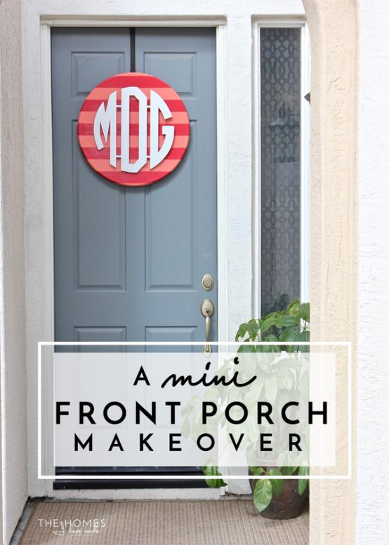 Create a great first impression to your house guests and neighbors with these simple front porch updates!
