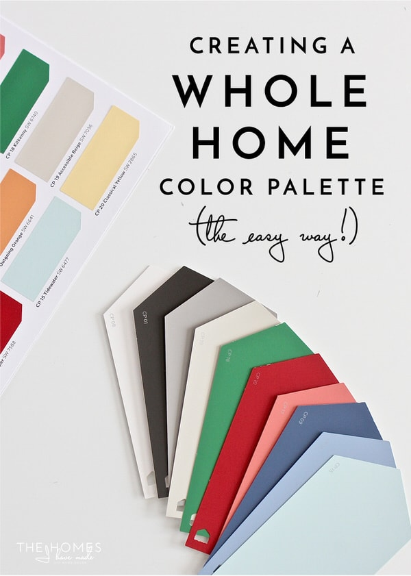 Struggling to create a cohesive home? Here is a quick and easy way to create a whole home color palette (even if you don't want to paint any walls!)