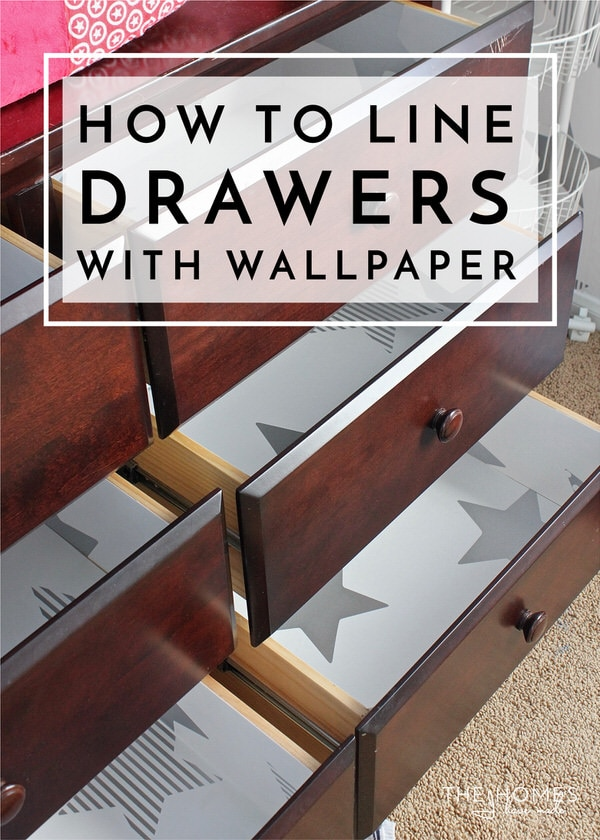 How to Line Drawers with Wallpaper