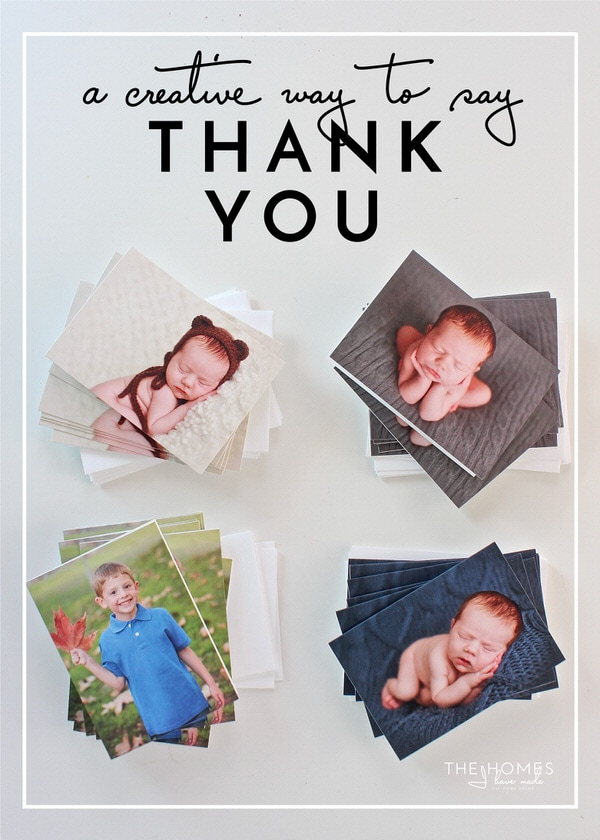 """Use your favorite pictures as a fun, easy, and super special way to say """"thank you"""" for gifts. This printable gift and thank you tracker helps you keep your card writing on organized and on track!"""