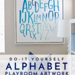 DIY Alphabet Art for the Playroom