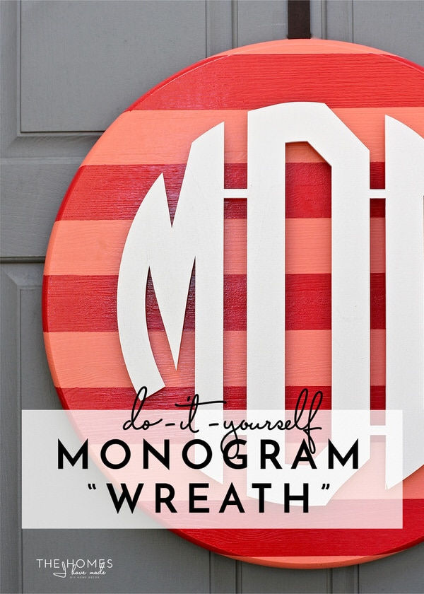 "DIY Wooden Monogram ""Wreath"""