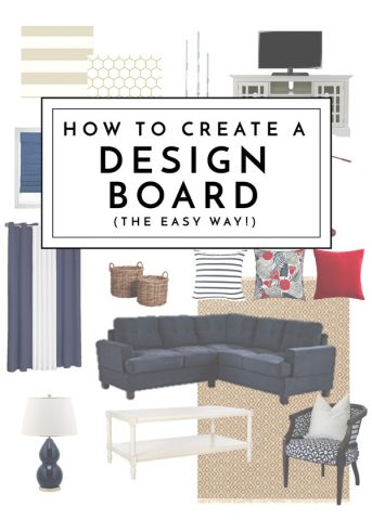 Ready to overhaul a room but don't know where to start? Learn how to create a design board to help execute your vision - no designer or tech skills necessary!