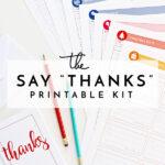 """The Say """"Thanks"""" Printable Kit"""