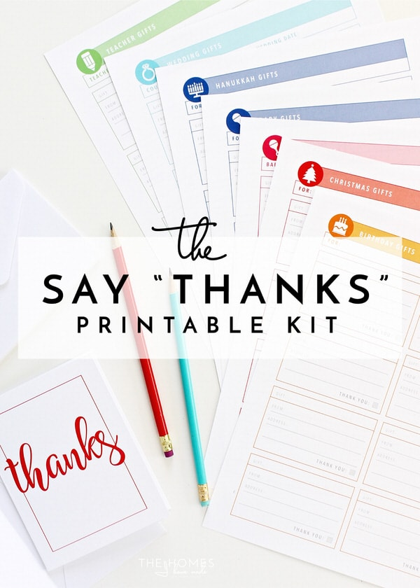"The Say ""Thanks"" Printable Kit"