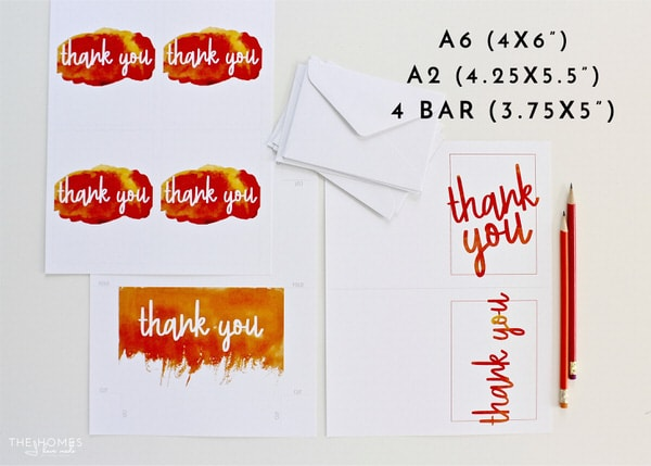 Keep track of all your gifts and corresponding thank you cards for every festive occasion using these colorful Printable Gift Trackers & Thank You Cards!