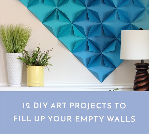 Filling up blank walls doesn't have to cost a fortune. With some crafts supplies and a few free hours, you can create your own artwork to add to any space!