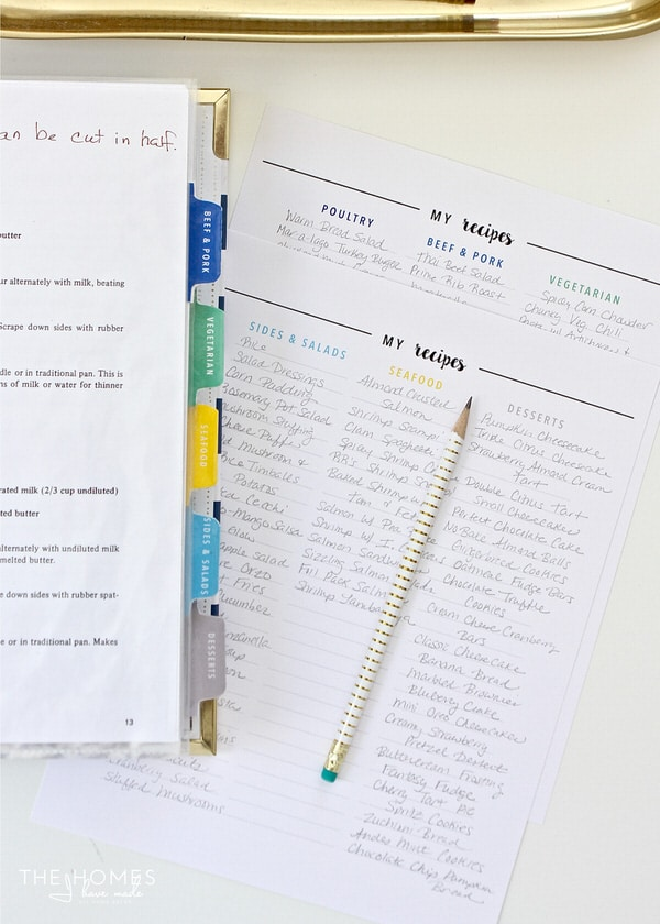 Streamline your meal planning, grocery planning, and dinner prep with an All-In-One Kitchen Binder that includes recipes, resources, and anything else you need right at your finger tips!