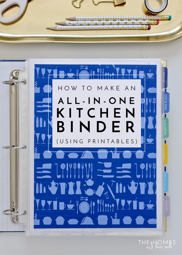 How to Make an All-In-One-Kitchen Binder