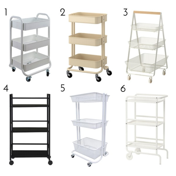 If you are struggling to carve our more functional storage in your baby's nursery, check out this super smart Diaper Cart solution!