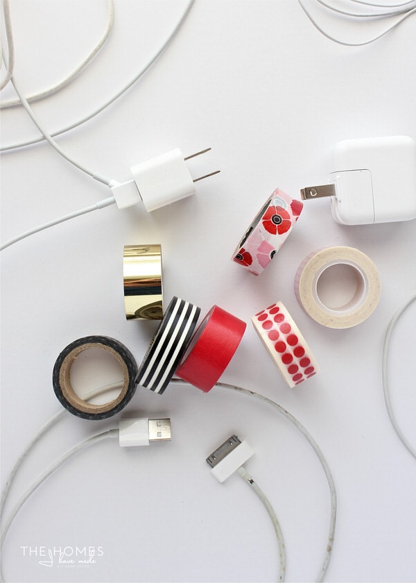 When all device cords and chargers look the same, use washi tape to personalize and claim yours!