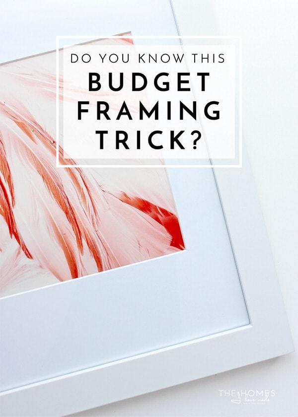 Do You Know This Budget Framing Trick? | The Homes I Have Made
