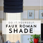 DIY Faux Roman Shades