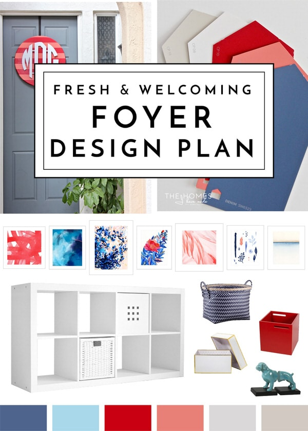 Fresh & Welcoming Foyer Design Plan