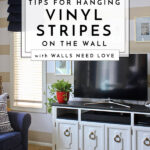 Vinyl Stripes on the Wall in the Family Room (Walls Need Love!)